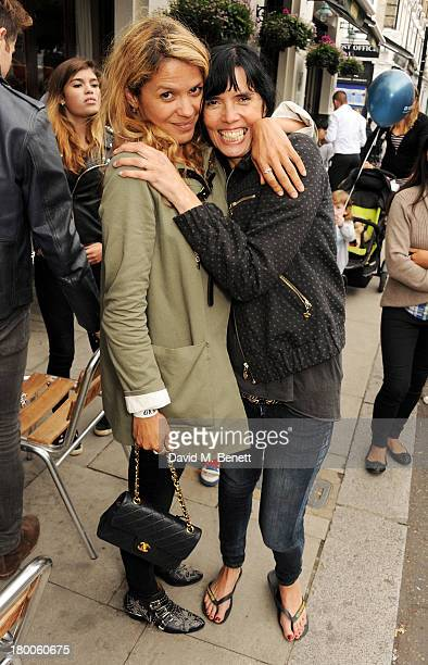 Lisa Moorish and guest attend the Primrose Hill Festival on September 8 2013 in London England