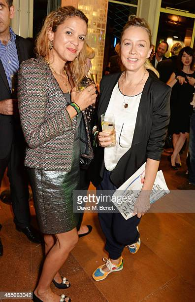 Lisa Moorish and Kate Spicer attend the launch of Manhattan Loft Gardens Harry Handelsman's newest property on September 18 2014 in London England