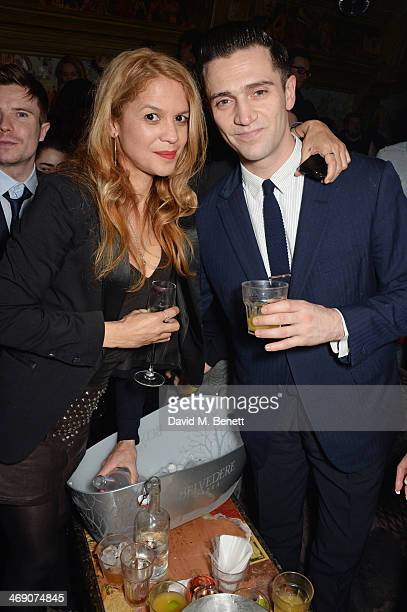 Lisa Moorish and Reg Traviss attend The Box 3rd Birthday Party sponsored by Belvedere Vodka at The Box Soho on February 12 2014 in London England