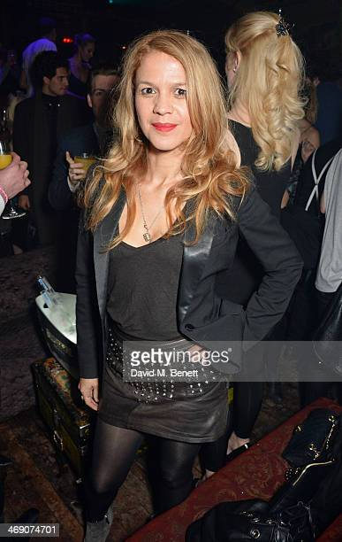 Lisa Moorish attends The Box 3rd Birthday Party sponsored by Belvedere Vodka at The Box Soho on February 12 2014 in London England
