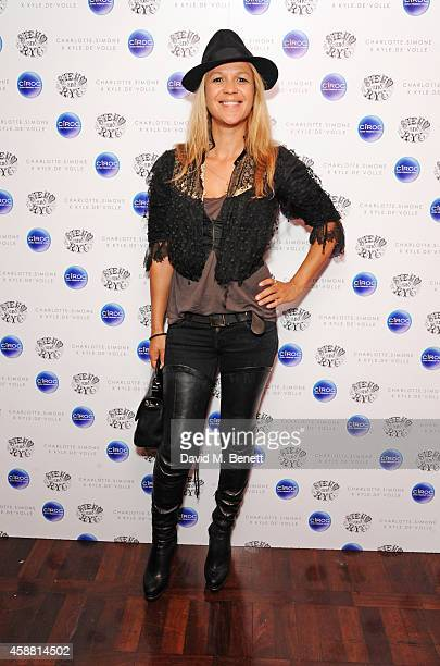 Lisa Moorish attends the Charlotte Simone x Kyle De'volle Bon Bon Bag launch at Steam Rye on November 11 2014 in London England