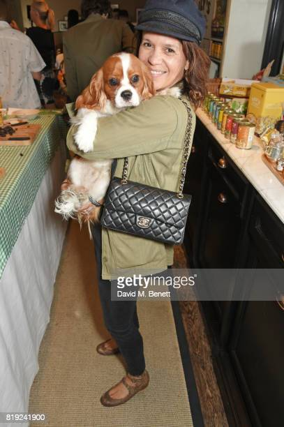 Lisa Moorish attends the launch of Rosewood's Canine Luxury Experience hosted by Rosewood London and Barbour at Rosewood London on July 20 2017 in...