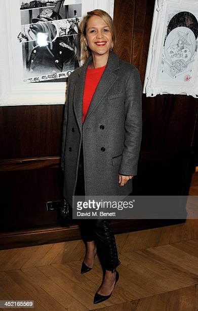 Lisa Moorish attends the Project Zoltar 10th anniversary celebration and launch of Zoltar the Magnificent at The Groucho Club on November 26 2013 in...