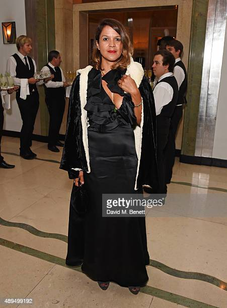Lisa Moorish attends the WilliamVintage private dinner in partnership with American Express at Claridge's Hotel on September 21 2015 in London England