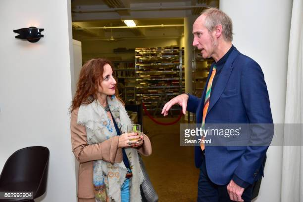 Lisa Natt and Tom Faulkner attend Tom Faulkner at Angela Brown Ltd on October 18 2017 in New York City