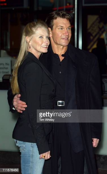 Lisa Niemi and Patrick Swayze during 'Keeping Mum' London Premiere at Vue Leicester Square in London Great Britain