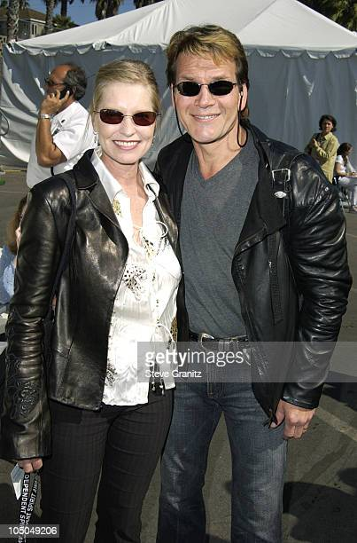 Lisa Niemi and Patrick Swayze during The 18th Annual IFP Independent Spirit Awards Backstage at Santa Monica Beach in Santa Monica California United...