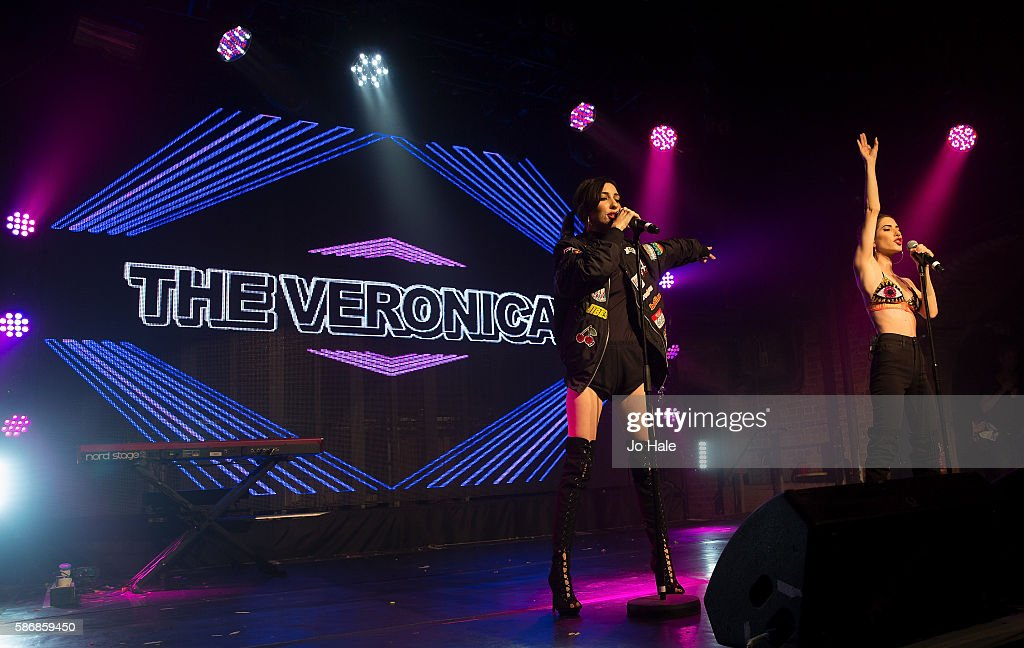 Lisa Origliasso and Jessica Origliasso of Australian Pop Punk Duo The Veronicas perform at GAY on August 6 2016 in London England
