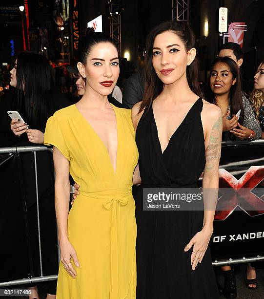 Lisa Origliasso and Jessica Origliasso of The Veronicas attend the premiere of 'xXx Return of Xander Cage' at TCL Chinese Theatre IMAX on January 19...