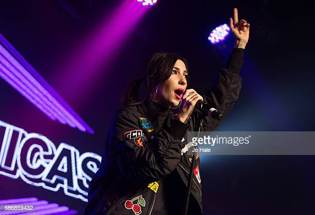 Lisa Origliasso of Australian Pop Punk Duo The Veronicas performs at GAY on August 6 2016 in London England