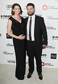 Lisa Osbourne and Jack Osbourne arrive at the 23rd Annual Elton John AIDS Foundation Academy Awards viewing party held at The City of West Hollywood...