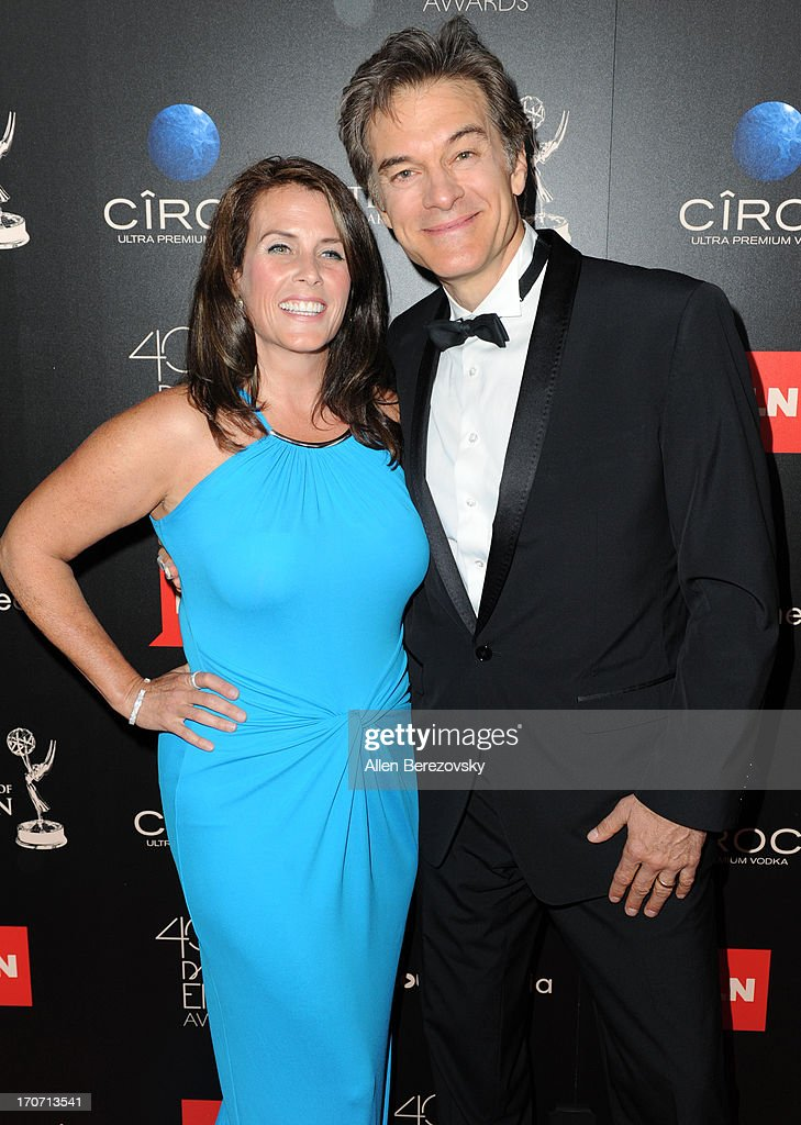 Lisa Oz and Dr Mehmet Oz attend 40th Annual Daytime Entertaimment Emmy Awards - Arrivals at The Beverly Hilton Hotel on June 16, 2013 in Beverly Hills, California.