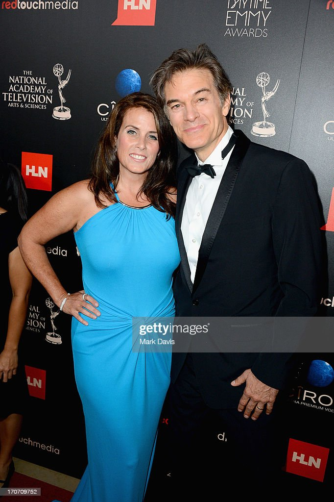 Lisa Oz (L) and Dr. Mehmet Oz attend The 40th Annual Daytime Emmy Awards at The Beverly Hilton Hotel on June 16, 2013 in Beverly Hills, California.