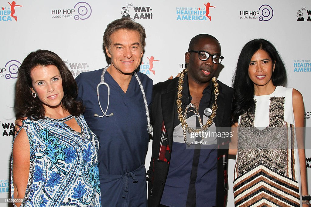Lisa Oz, Dr. Mehmet Oz, Dr. Olajide Williams and Rose Cameron attend the 2013 kick-off event for Songs for a Healthier America at Symphony Space on September 30, 2013 in New York City.