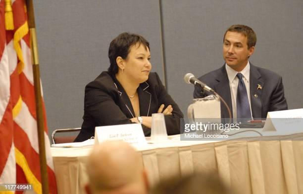 Lisa P Jackson Commissioner NJ Department of Environmental Protection and Steven Caporaso 2005/2006 NJBA President