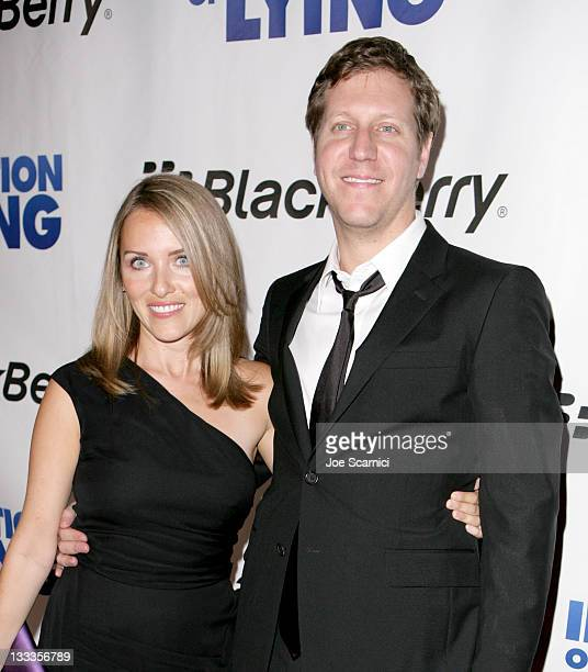 Lisa Paige Robinson and CoDirector/Writer Matthew Robinson attend 'The Invention Of Lying' After Party Hosted By Blackberry held at Amber Restaurant...