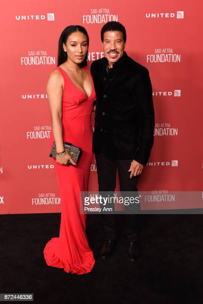 Lisa Parigi and Lionel Richie attend SAGAFTRA Foundation Patron of the Artists Awards 2017 Arrivals at Wallis Annenberg Center for the Performing...