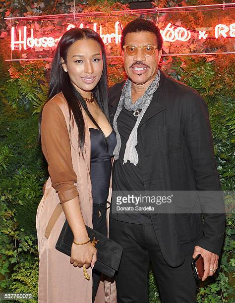 Lisa Parigi and singersongwriter Lionel Richie attend House of Harlow 1960 x REVOLVE on June 2 2016 in Los Angeles California