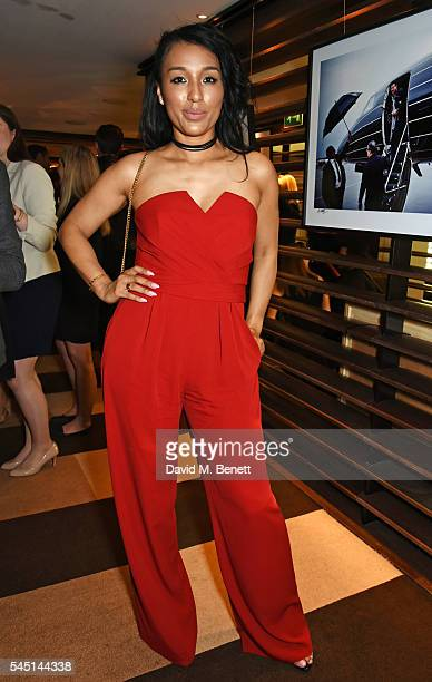 Lisa Parigi attends the exclusive Lionel Richie exhibition 'STILL' by US photographer Alan Silfen at Dorchester Collections Mayfair hotel 45 Park...