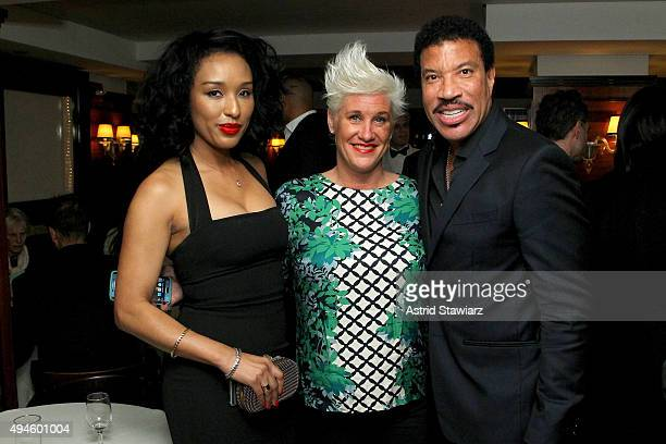 Lisa Parigi Chef Anne Burrell and Lionel Richie attend DuJour's Jason Binn and Dom Perignons Trent Fraser host an intimate dinner for Lionel Richies...