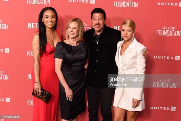 Lisa Parigi JoBeth Williams Lionel Richie and Sofia Richie attend SAGAFTRA Foundation Patron of the Artists Awards 2017 Arrivals at Wallis Annenberg...