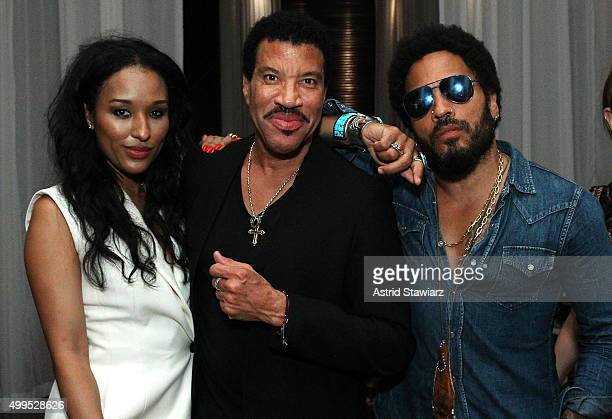 Lisa Parigi Lionel Richie and Lenny Kravitz attend DuJour Magazine's Jason Binn Celebrates Annual Art Basel Miami Beach KickOff Party presented by...
