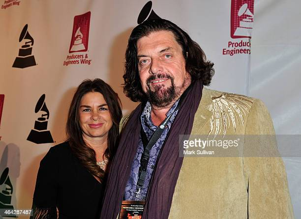 Lisa Parsons and audio engineer Alan Parsons attend the 56th GRAMMY Awards PE Wing Event Honoring Neil Young at The Village Recording Studios on...