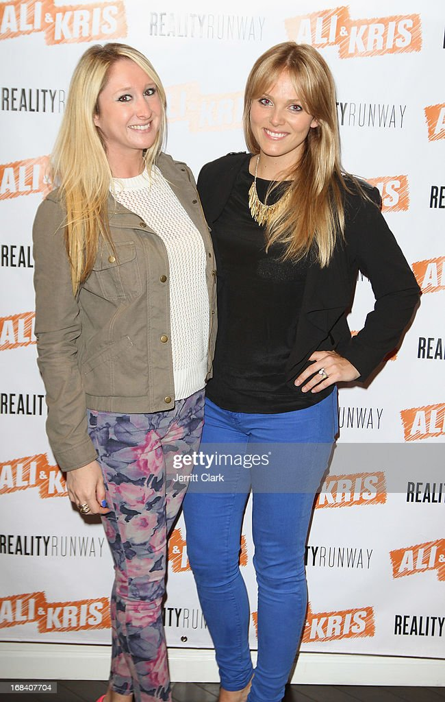 Lisa Pastrick and Rachel Truehart of The Bachelor attends Reality Runway By Ali And Kris at the Ali and Kris Showroom on May 8, 2013 in New York City.