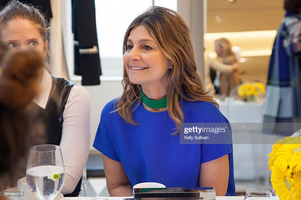 Lisa Perry speaks with luncheon guests at Barneys New York on January 29 2016 in San Francisco California