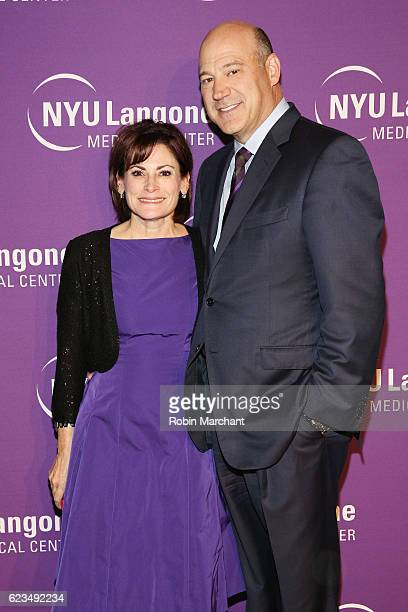 Lisa PevaroffCohn and president and COO of Goldman Sachs Gary Cohn attend the NYU Langone Musculoskeletal Ball 2016 on November 15 2016 in New York...