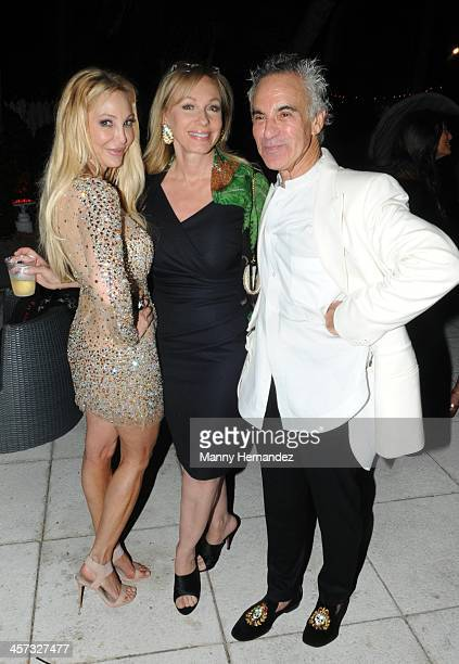 Lisa Pliner Lea Black and Donald Pliner attends Donald Pliner's 70th Birthday Party at the Sagamore hotel on December 14 2013 in Miami Florida