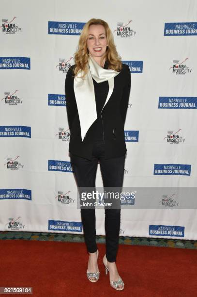 Lisa Purcell of Country Music Hall of Fame Museum arrives at the 2017 Nashville Business Journal Women In Music City on October 17 2017 in Nashville...