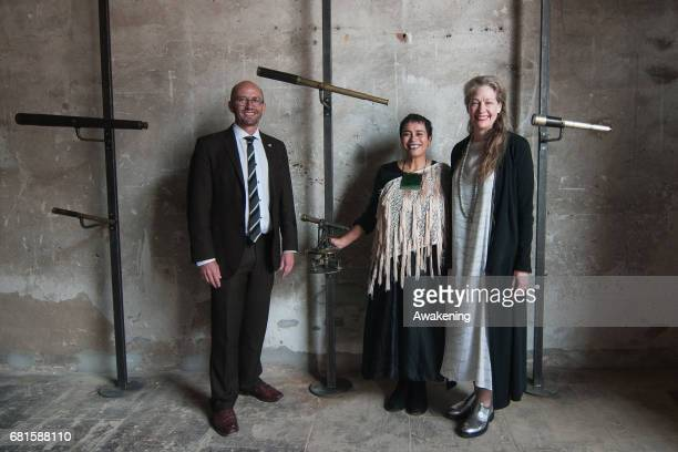 Lisa Reihana attends at the opening of the New Zealand pavilion for her new exhibition at Arsenale during the 57th Internaztional Art Exhibition of...