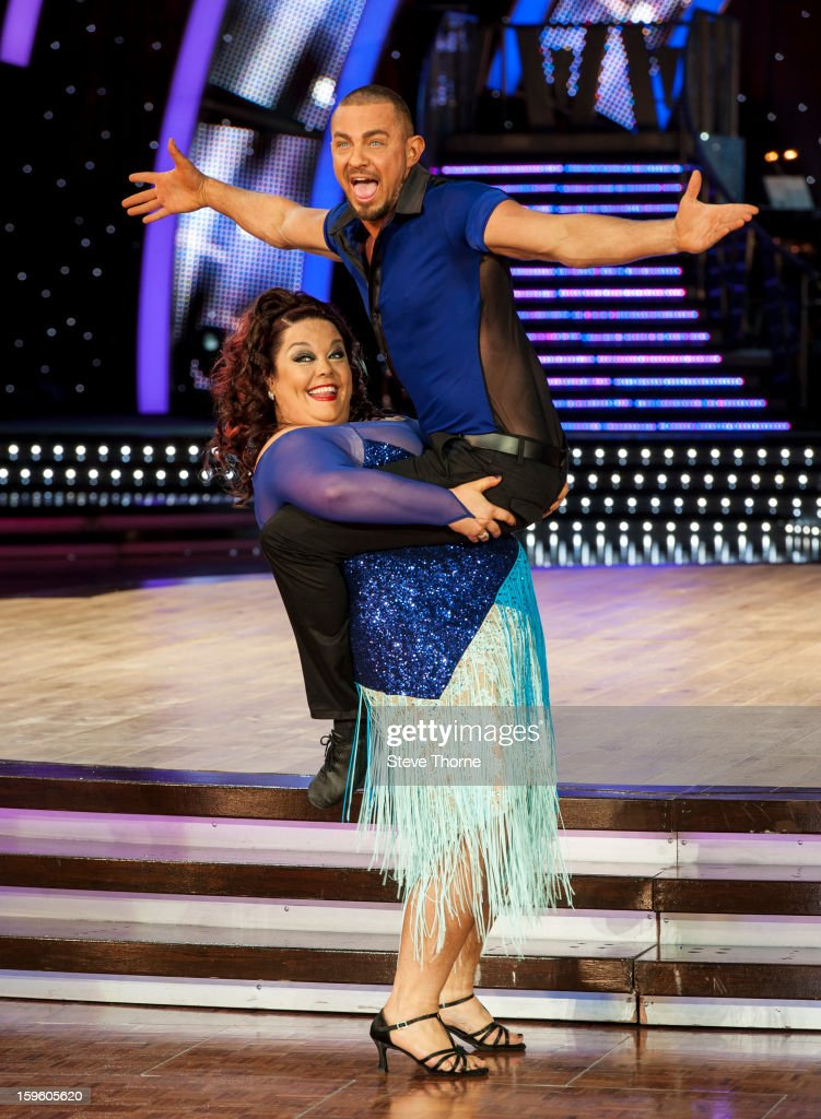 Lisa Riley and Robin Windsor attend a photocall ahead of the Strictly Come Dancing Live Tour at NIA Arena on January 17, 2013 in Birmingham, England.
