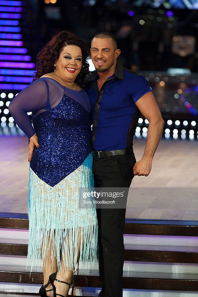 Lisa Riley and Robin Windsor attends a photocall ahead of the Strictly Come Dancing Live Tour at NIA Arena on January 17, 2013 in Birmingham, England.
