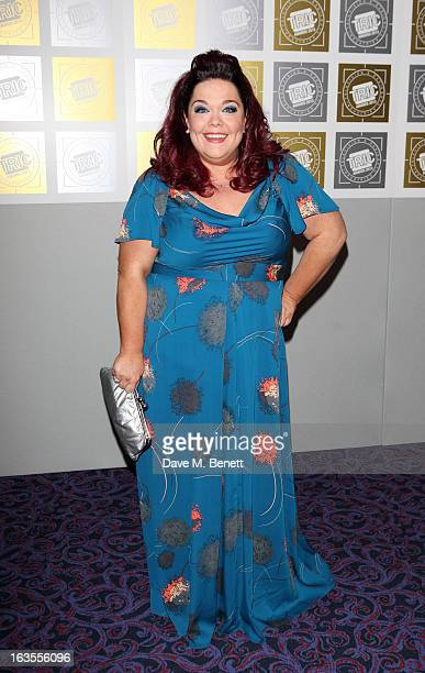 Lisa Riley arrives at the TRIC Television and Radio Industries Club Awards at The Grosvenor House Hotel on March 12 2013 in London England