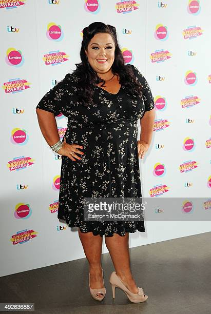 Lisa Riley attends Lorraine's High Street Fashion Awards on May 21 2014 in London England