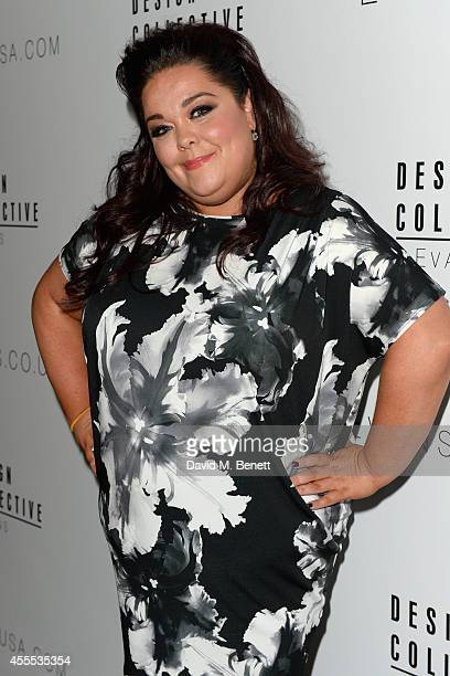 Lisa Riley attends The Evans Design Collective inaugural SS15 catwalk show at The Freemason's Hall on September 16 2014 in London England