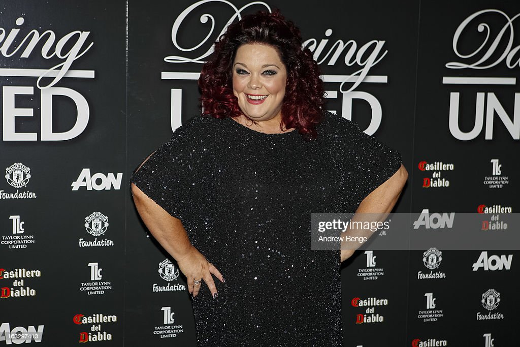 Lisa Riley attends the Manchester United Foundation's Dancing With United charity fundraiser at Lancashire County Cricket Club on March 7, 2013 in Manchester, England.