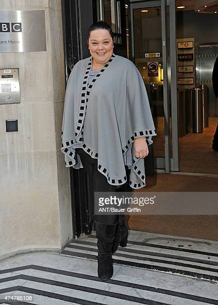 Lisa Riley is seen leaving the BBC Radio 1 Studios on November 02 2012 in London United Kingdom