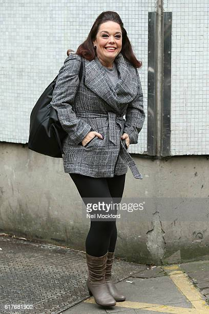 Lisa Riley seen at the ITV Studios after appearing on Loose Women on October 24 2016 in London England