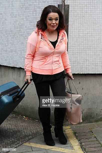 Lisa Riley seen leaving the ITV Studios after an appearance on 'Loose Women' on August 22 2016 in London England