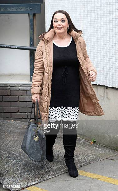 Lisa Riley sighting at The ITV Studios on November 1 2016 in London England