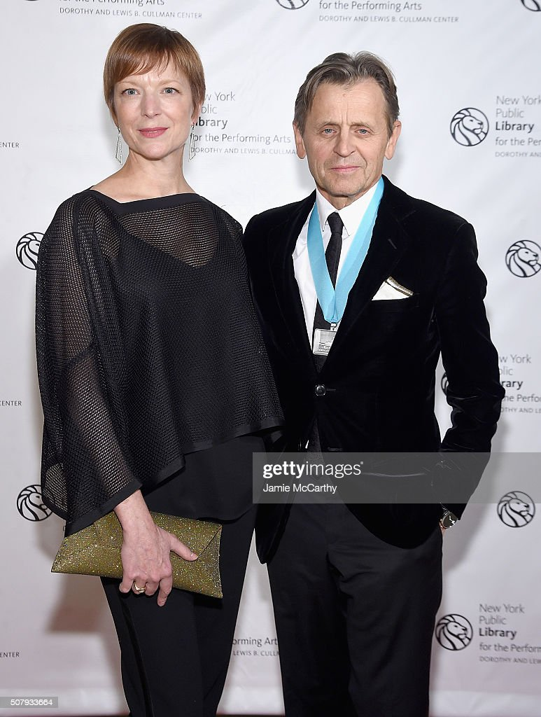 Lisa Rinehart and Mikhail Baryshnikov attend The New York Public Library For The Performing Arts' 50th Anniversary Gala at The New York Public Library - Stephen A. Schwarzman Building on February 1, 2016 in New York City.