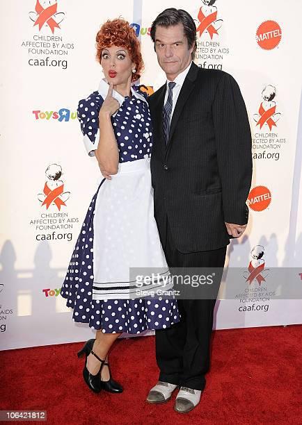 Lisa Rinna and Harry Hamlin at Barker Hangar on October 30 2010 in Santa Monica California