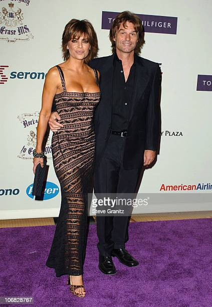 Lisa Rinna and Harry Hamlin during 12th Annual Race to Erase MS CoChaired by Tommy Hilfiger and Nancy Davis Arrivals at Century Plaza Hotel in...