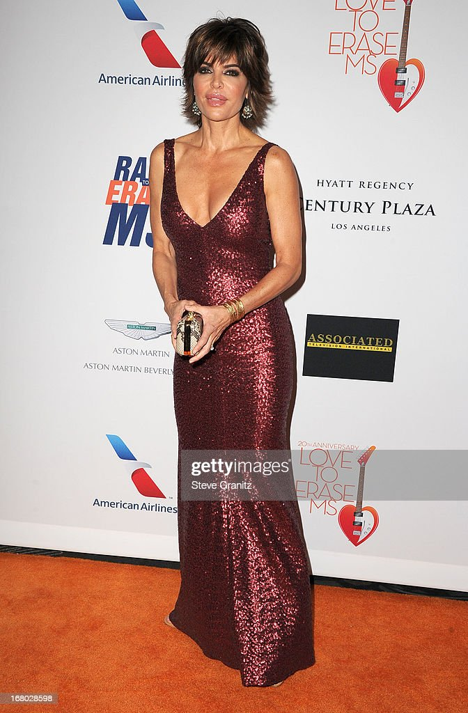 Lisa Rinna arrives at the 20th Annual Race To Erase MS Gala 'Love To Erase MS' at the Hyatt Regency Century Plaza on May 3, 2013 in Century City, California.