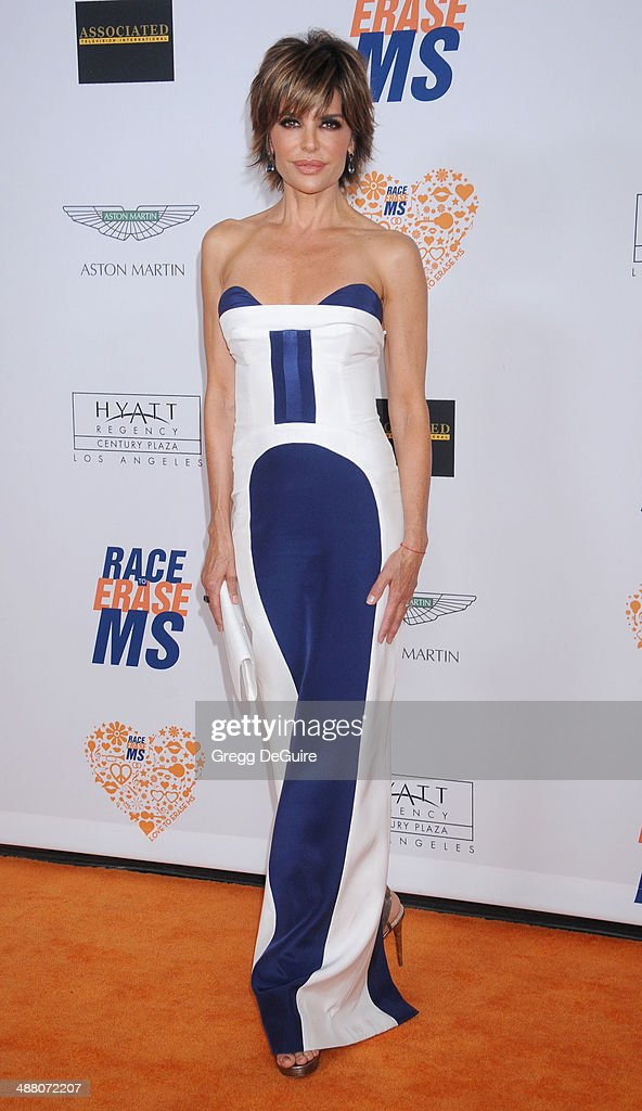 <a gi-track='captionPersonalityLinkClicked' href=/galleries/search?phrase=Lisa+Rinna&family=editorial&specificpeople=202100 ng-click='$event.stopPropagation()'>Lisa Rinna</a> arrives at the 21st Annual Race To Erase MS Gala at the Hyatt Regency Century Plaza on May 2, 2014 in Century City, California.