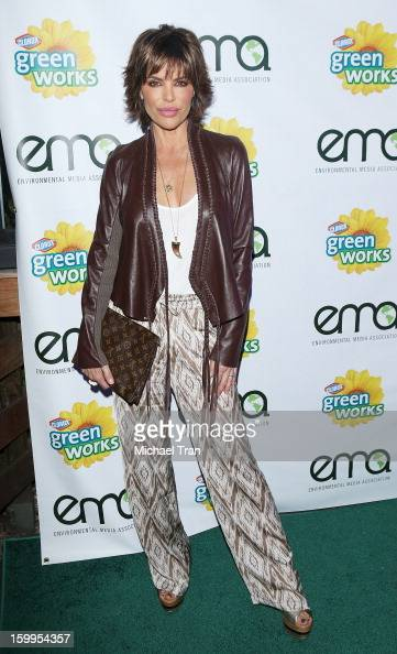 Lisa Rinna arrives at the 'Green Housewives' screening party held at SUR Lounge on January 23 2013 in Los Angeles California