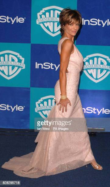 Lisa Rinna arrives at the In Style Magazine and Warner Bros Studios post Golden Globes party at the Beverly Hilton Hotel Los Angeles USA Monday 16...